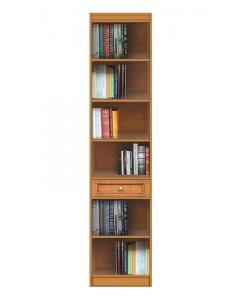Bibliothèque modulaire haute avec tiroir, bibliothèque haute, bibliothèque petit espace, meuble bibliothèque, meuble rangement livres.
