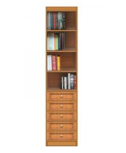 Bibliothèque étroite niches et tiroirs réf. EC-COM-M5