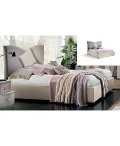Lit deux places tête de lit rembourrée, lit, lit moderne, lit tête de lit rembourrée