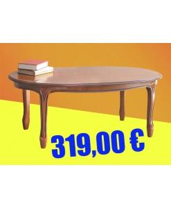 Table basse de salon ovale promo merisier