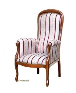 Fauteuil Voltaire Plus accoudoirs rembourrés, fauteuil style voltaire, fauteuil voltaire