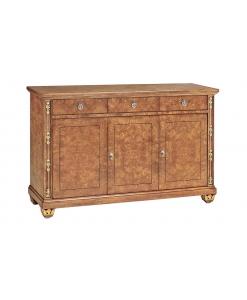 Buffet enfilade ronce de frêne 156 cm, buffet, bahut, enfilade, meuble buffet pour salon style classique