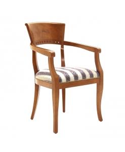 chaise, chaise bout de table, chaise avec accoudoirs, chaise style classique rembourrée