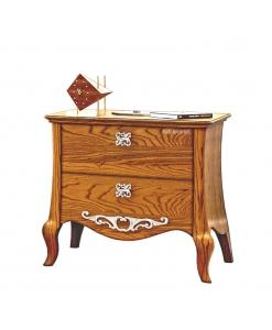table de chevet, chevet 2 tiroirs, chavet style classique en bois, chambre à coucher