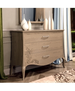 Commode 3 tiroirs, commode pour chambre adulte, commode 3 tiroirs, meuble commode 3 tiroirs en bois, commode style contemporain