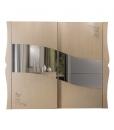 Armoire à portes coulissantes avec miroir, grande armoire pour chambre, armoire pour chambre avec miroir, armoire portes coulissantes