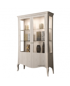Vitrine 2 portes design contemporain, vitrine, vitrine pour salon, meubles style contemporain