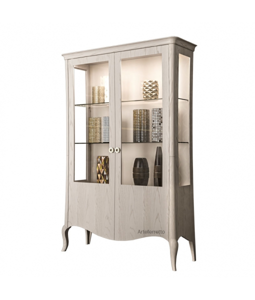 Vitrine 2 portes design contemporain