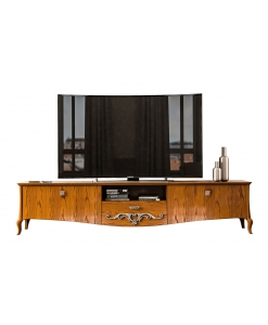 Meuble TV bas, meuble tvbas, meuble télé 2880 cm, meuble banc tv 280 cm style classique en bois