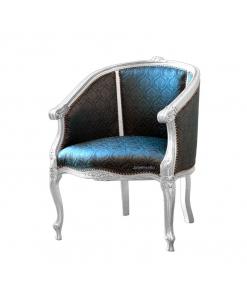 Fauteuil hêtre massif, fauteuil pour chambre, fauteuil hall d'entrée, fauteuil classique bois et tissu