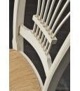 Chaise classique style maison de campagne, chaise rustique de cuisine avec assise en paille