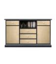 Meuble TV/Buffet polyvalent, meuble tv 130 cm, meuble buffet 130 cm, meuble style contemporain support tv ou buffet