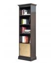 Bibliothèque colonne étroite, bibliothèque, bibliothèque étroite, bibliothèque une porte, meuble bibliothèque petite taille