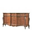 Meuble buffet 224 cm, meuble buffet, meuble bahut, buffet enfilade style classique en bois
