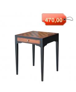 Table échiquier bicolore