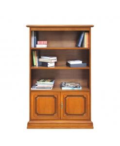 Bibliothèque petite taille hauteur 164 cm, bibliothèque en bois petite hauteur, meuble bibliothèque petites dimensions