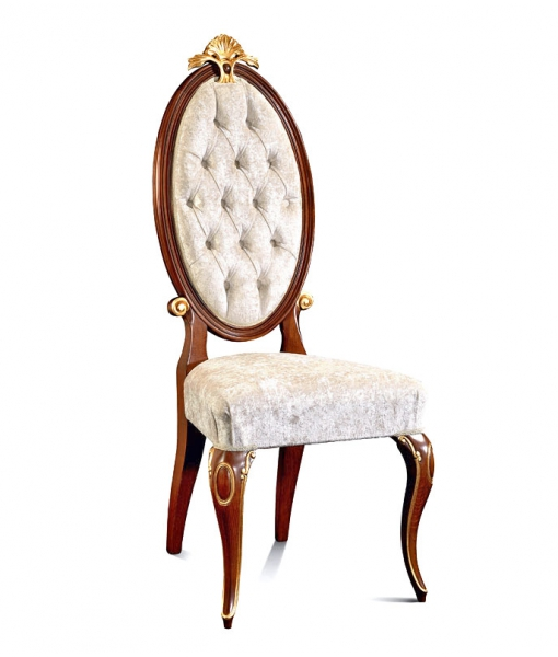 Chaise élégante dossier ovale capitonné réf. MG-501