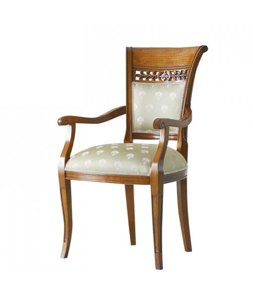 Chaise sculptée avec accoudoirs réf. MS-L33