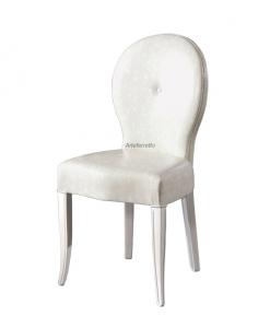 chaise, chaise classique, chaise blanche, chaise de repas