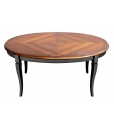 Table ovale 160x110 extensible finition bicolore réf. FV-37A-BIC
