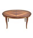 Table à manger ovale cm 160 prolongeable dessus marqueté, table de salon, table salle ù manger, table ovale pour salle à manger
