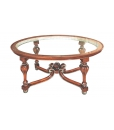 Table de salon vitrée, table basse de salon, table basse ovale, table ovale 100 cm