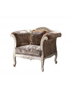 Fauteuil basse avec coussin, fauteuil basse, fauteuil classique, fauteuil style classique
