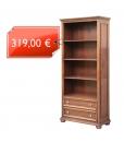 Meuble bibliothèque classique 2 tiroirs