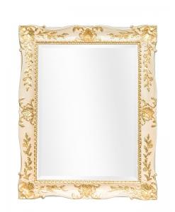 Miroir mural rectangulaire à la feuille d'or