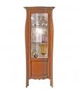 Vitrine modelée hauteur 200 cm, vitrine classique 1 porte, vitrine style classique en bois