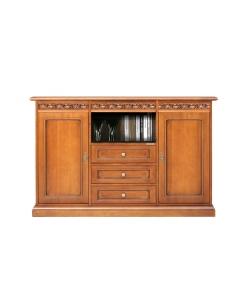 meuble buffet haut 90 cm, meuble buffet style classique en bois