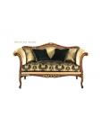 canapé style classique bois et tissu, canapé élégant, canapé hall d'entrée