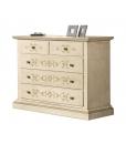 commode, commode décorée, meuble commode 5 tiroirs, commode classique en bois, meuble commode classique pour chambre