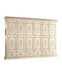 Armoire décorée pour chambre à coucher, armoire grandes dimensions, armoire 3 mètres, grande armoire pour chambre
