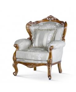 fauteuil, fauteuil sculpté, fauteuil style baroque