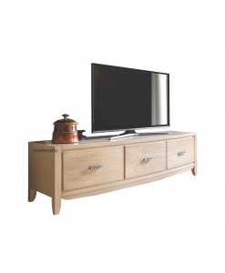meuble tv 180 cm avec 3 tiroirs, structure en bois, meuble tv style contemporain