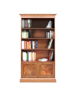 bibliothèque, meuble bibliothèque classique en bois, meuble rangement livres