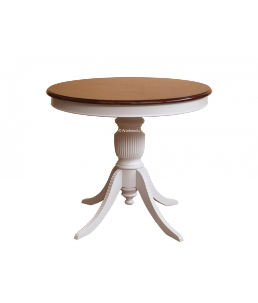 Table ronde fixe Ø90 finition bicolore réf. 270-bic90