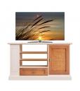 meuble tv, meuble tv 114 cm, meuble tv avec étagères, meuble tv classique en bois