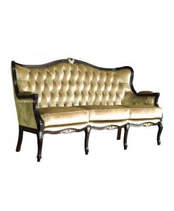 Canapé 3 places dossier capitonné, canapé élégant pour salon ou hall d'entrée, canapé capitonné