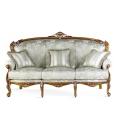 Canapé sculpté 3 place, canapé classique, canapé en bois, canapé baroque, canapé pour salon classique
