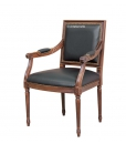 fauteuil, fauteuil style empire, fauteuil pieds cannés