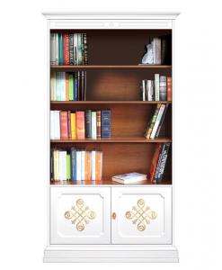 bibliothèque, meuble bibliothèque, bibliothèque en bois, bibliothèque bicolore