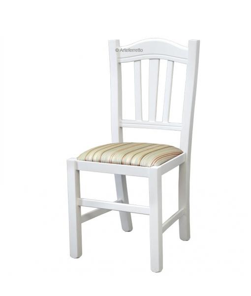 Chaise style rustique assise rembourrée réf. FV-85-IM