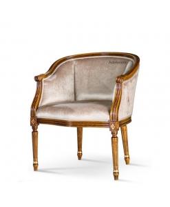 fauteuil gondole, fauteuil type gondole, achat fauteuil classique gondole bois et tissu