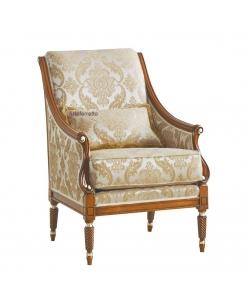 fauteuil, fauteuil avec coussin, fauteuil classique bois et tissu, fabricant fauteuil, fauteuil bergère