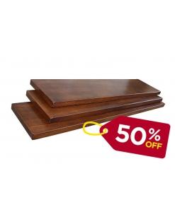 PROMO ! Lot de 3 étagères en bois 90 cm couleur noyer