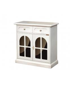meuble buffet bahut petite taille, meuble buffet petite largeur, meuble buffet blanc, plexiglass noir