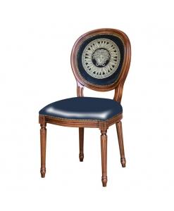 Chaise pieds cannelés, chaise style louis xvi, chaise classique médaillon, chaise médaillon, chaise pieds cannés