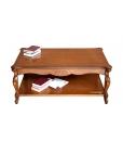 Table basse de salon rectangulaire, table basse de salon en bois, table basse de salon style classique, table basse de salon 130 cm
